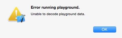 Swift: Error running playground.
